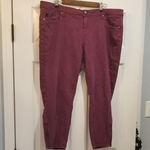 Purple Torrid zipper crop jeans
